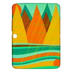 Orange and green landscape Samsung Galaxy Tab 3 (10.1 ) P5200 Hardshell Case