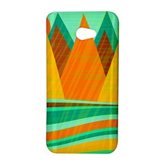 Orange and green landscape HTC Butterfly S/HTC 9060 Hardshell Case