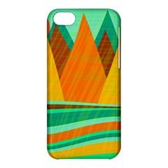 Orange and green landscape Apple iPhone 5C Hardshell Case