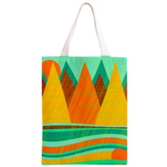Orange and green landscape Classic Light Tote Bag