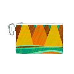 Orange and green landscape Canvas Cosmetic Bag (S)