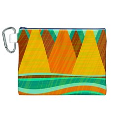 Orange and green landscape Canvas Cosmetic Bag (XL)