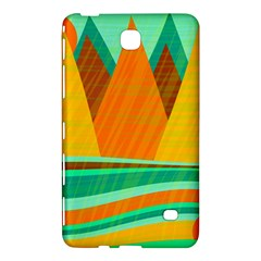 Orange and green landscape Samsung Galaxy Tab 4 (7 ) Hardshell Case