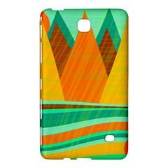 Orange and green landscape Samsung Galaxy Tab 4 (8 ) Hardshell Case