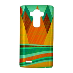 Orange and green landscape LG G4 Hardshell Case