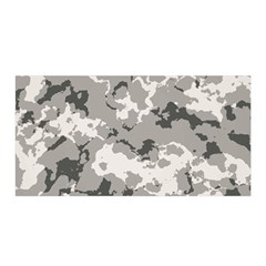 Winter Camouflage Satin Wrap