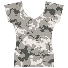 WINTER CAMOUFLAGE Women s V-Neck Cap Sleeve Top