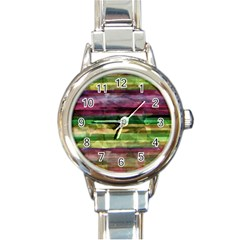 Colorful marble Round Italian Charm Watch