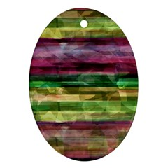 Colorful marble Ornament (Oval)
