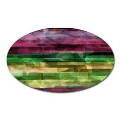 Colorful Marble Oval Magnet