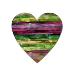 Colorful marble Heart Magnet