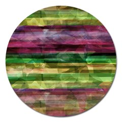 Colorful marble Magnet 5  (Round)