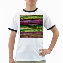 Colorful marble Ringer T-Shirts