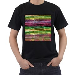 Colorful marble Men s T-Shirt (Black) (Two Sided)