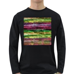 Colorful marble Long Sleeve Dark T-Shirts