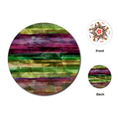 Colorful marble Playing Cards (Round)