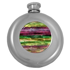 Colorful marble Round Hip Flask (5 oz)