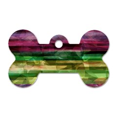 Colorful marble Dog Tag Bone (One Side)