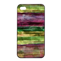 Colorful marble Apple iPhone 4/4s Seamless Case (Black)