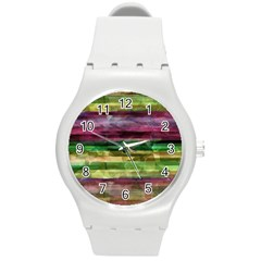 Colorful marble Round Plastic Sport Watch (M)