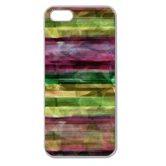 Colorful marble Apple Seamless iPhone 5 Case (Clear)