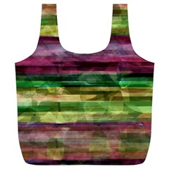 Colorful marble Full Print Recycle Bags (L)