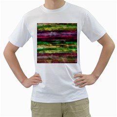 Colorful marble Men s T-Shirt (White)