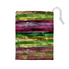 Colorful marble Drawstring Pouches (Large)