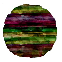 Colorful marble Large 18  Premium Flano Round Cushions