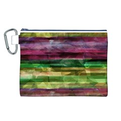 Colorful marble Canvas Cosmetic Bag (L)