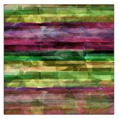 Colorful marble Large Satin Scarf (Square)