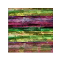 Colorful marble Small Satin Scarf (Square)