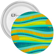 Yellow and blue decorative design 3  Buttons