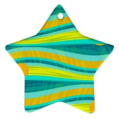 Yellow and blue decorative design Ornament (Star)
