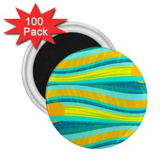Yellow and blue decorative design 2.25  Magnets (100 pack)