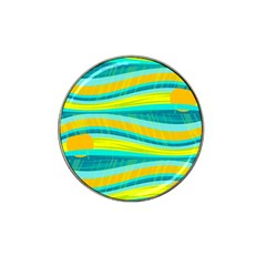 Yellow and blue decorative design Hat Clip Ball Marker