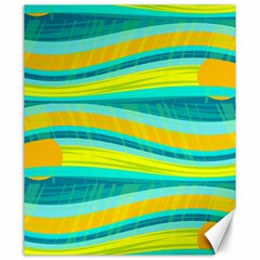 Yellow and blue decorative design Canvas 20  x 24