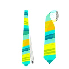 Yellow and blue decorative design Neckties (Two Side)