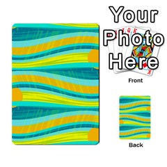 Yellow and blue decorative design Multi-purpose Cards (Rectangle)