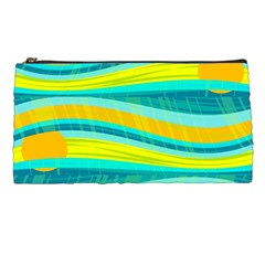 Yellow and blue decorative design Pencil Cases