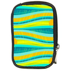 Yellow and blue decorative design Compact Camera Cases