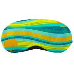 Yellow and blue decorative design Sleeping Masks