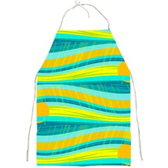 Yellow and blue decorative design Full Print Aprons