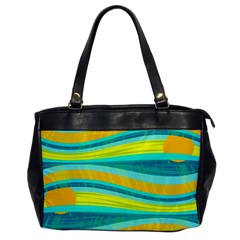 Yellow and blue decorative design Office Handbags