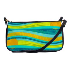 Yellow and blue decorative design Shoulder Clutch Bags