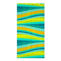 Yellow and blue decorative design Shower Curtain 36  x 72  (Stall)