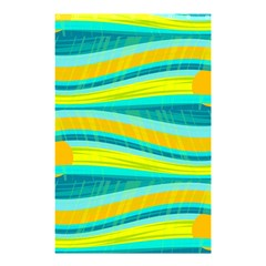 Yellow and blue decorative design Shower Curtain 48  x 72  (Small)