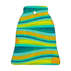 Yellow and blue decorative design Bell Ornament (2 Sides)