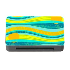 Yellow and blue decorative design Memory Card Reader with CF