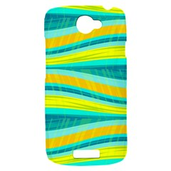Yellow and blue decorative design HTC One S Hardshell Case